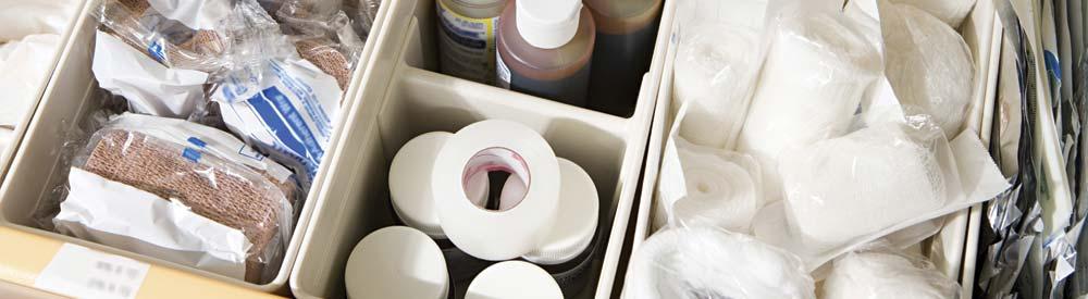 organized medical supplies