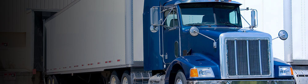 Truck to be checked in a retail supply chain audit