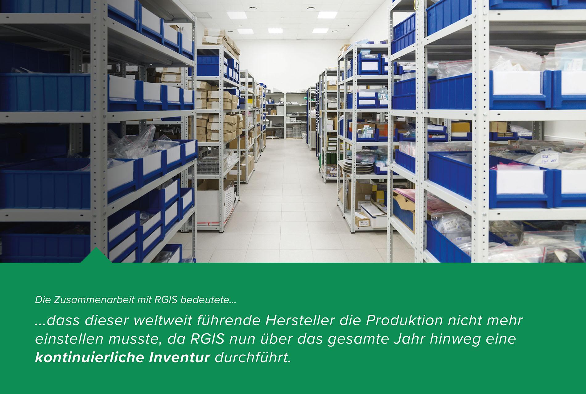 RGIS-Fallstudie Herstellerteile Perpetual Inventory