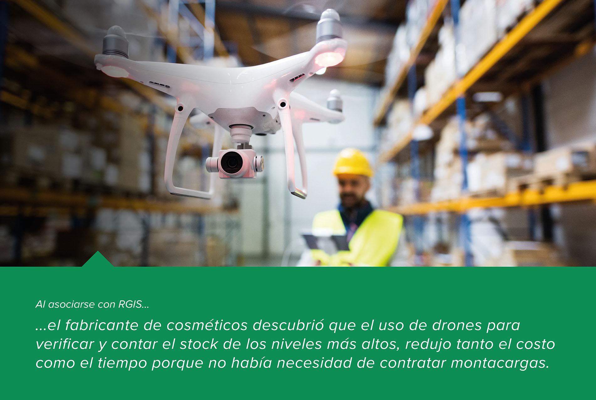Conteo y verificación con drones en un almacén con códigos QR