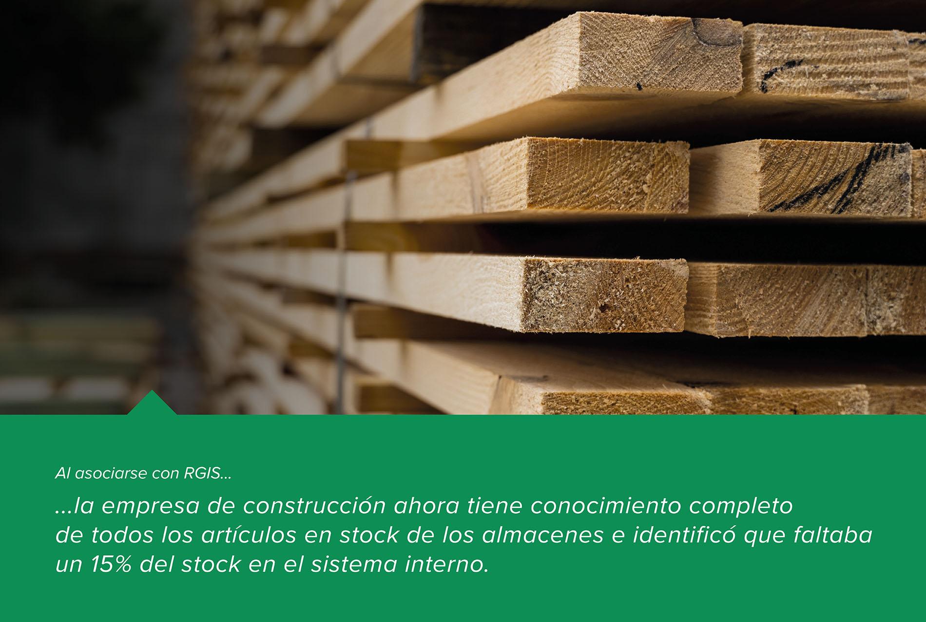 Inventario de almacén de una empresa de construcción
