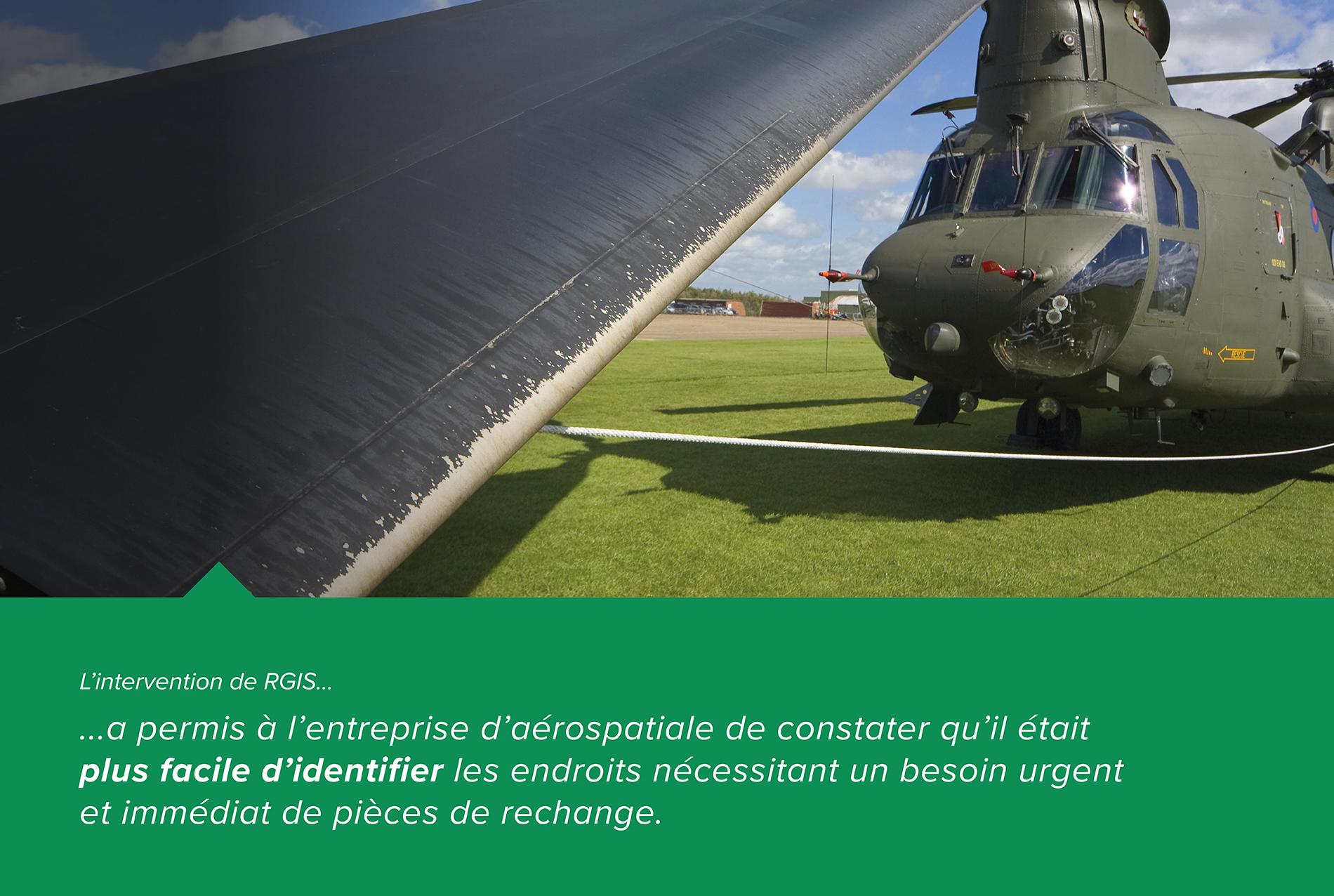 Étude de cas RGIS Inventaire des pièces aérospatiales