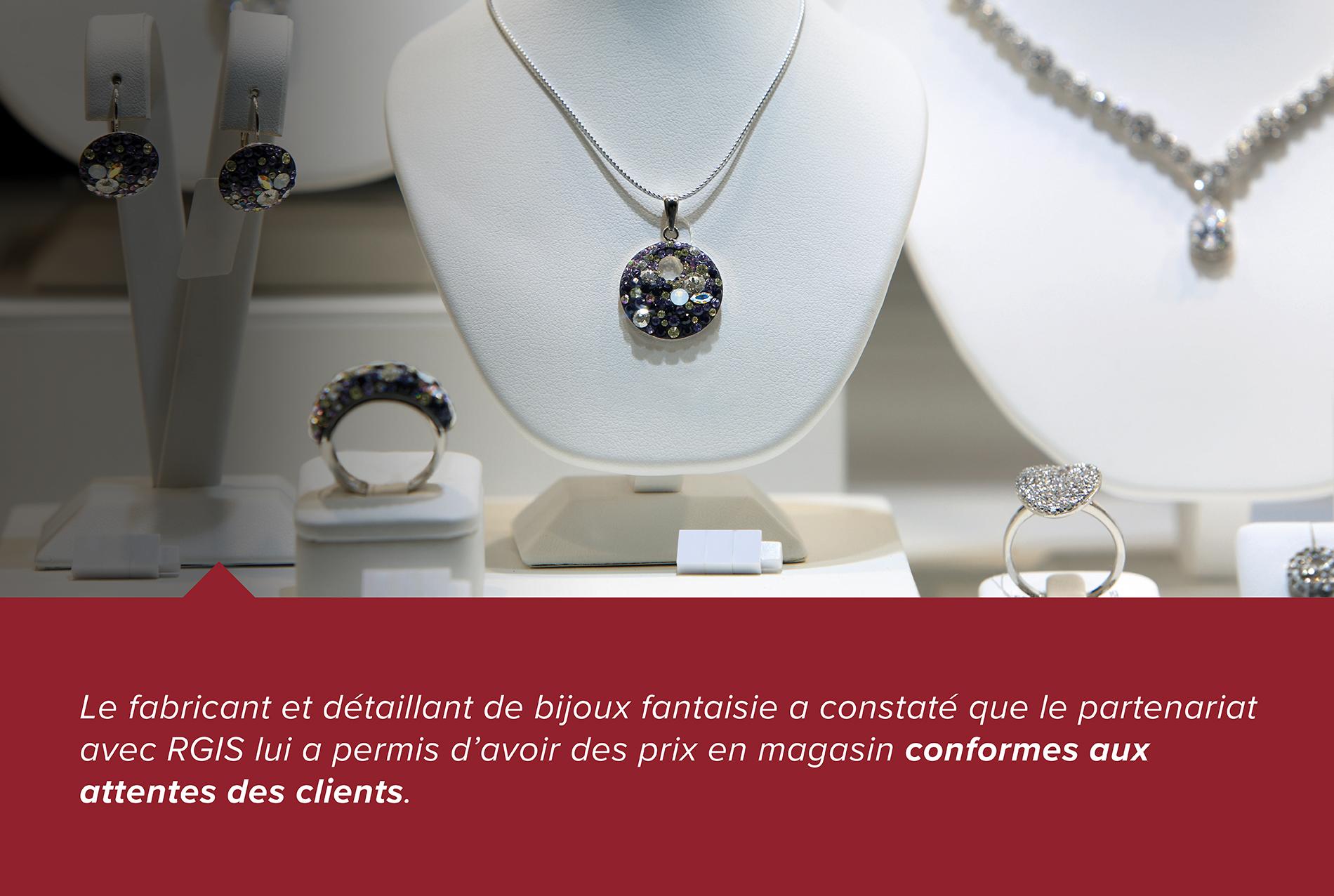 Étude de cas RGIS d'un détaillant de bijoux vérifiant le stock et les prix