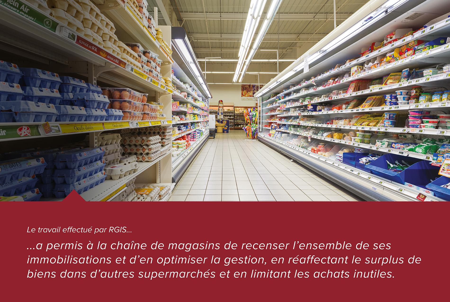 Étude de cas RGIS d'un projet de vérification des actifs d'un supermarché