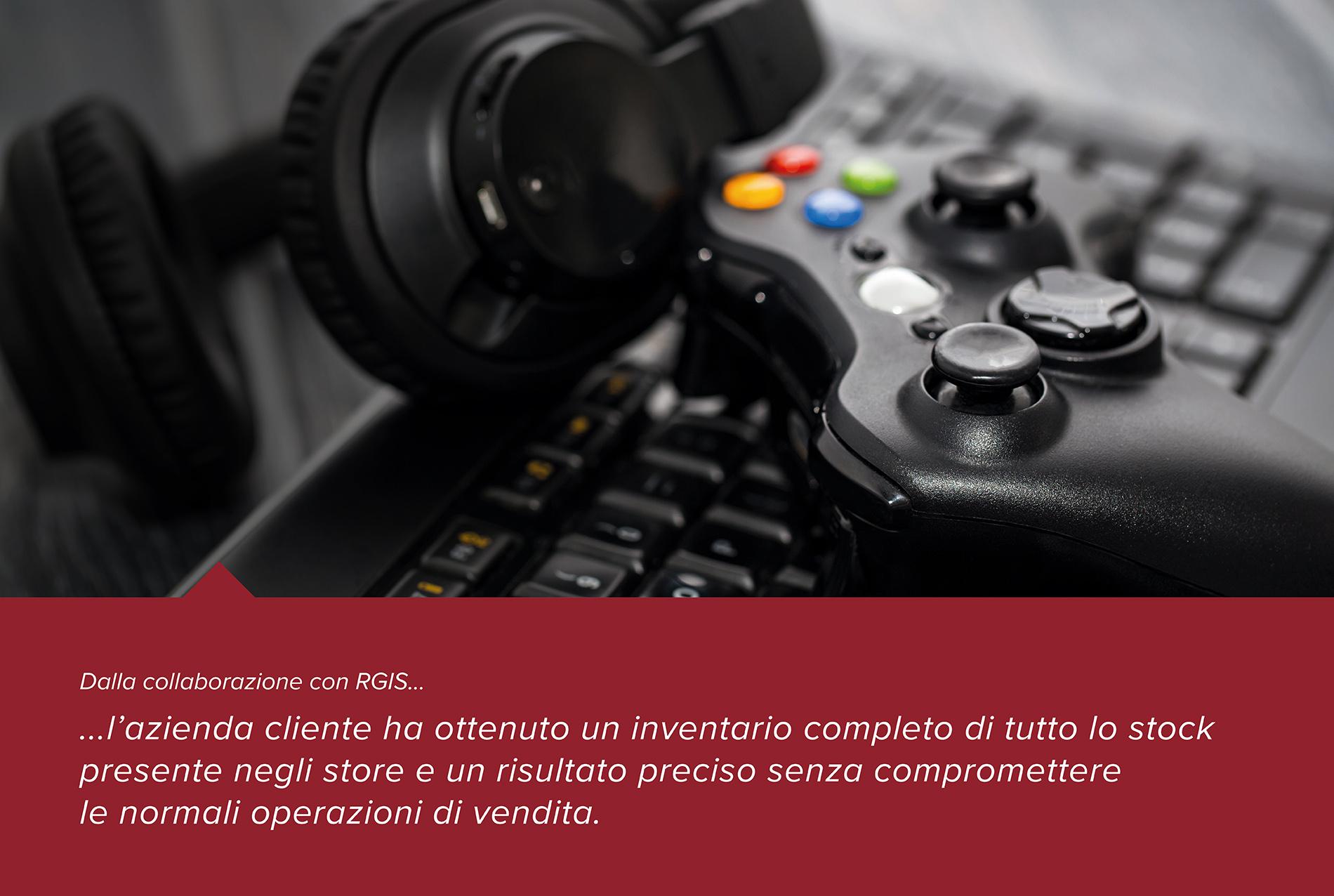 Inventario presso negozi di videogiochi per migliorare la precisone nel monitoraggio delle giacenze