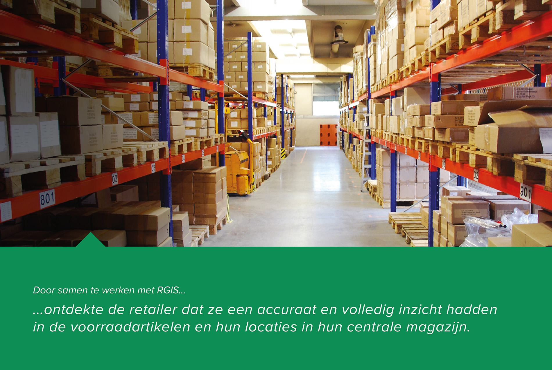 RGIS-casestudy van muur-tot-muur inventarisaantal in centraal magazijn