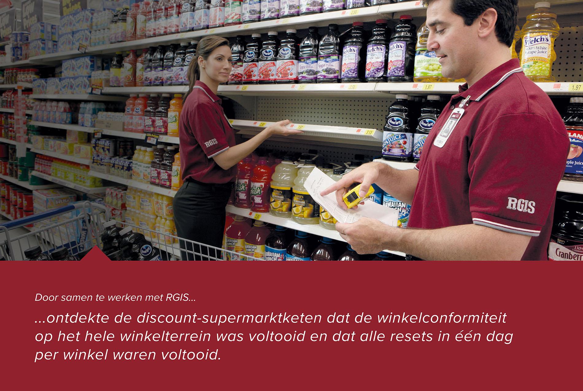 Winkelverbouwing voor een supermarktketen in het discountsegment