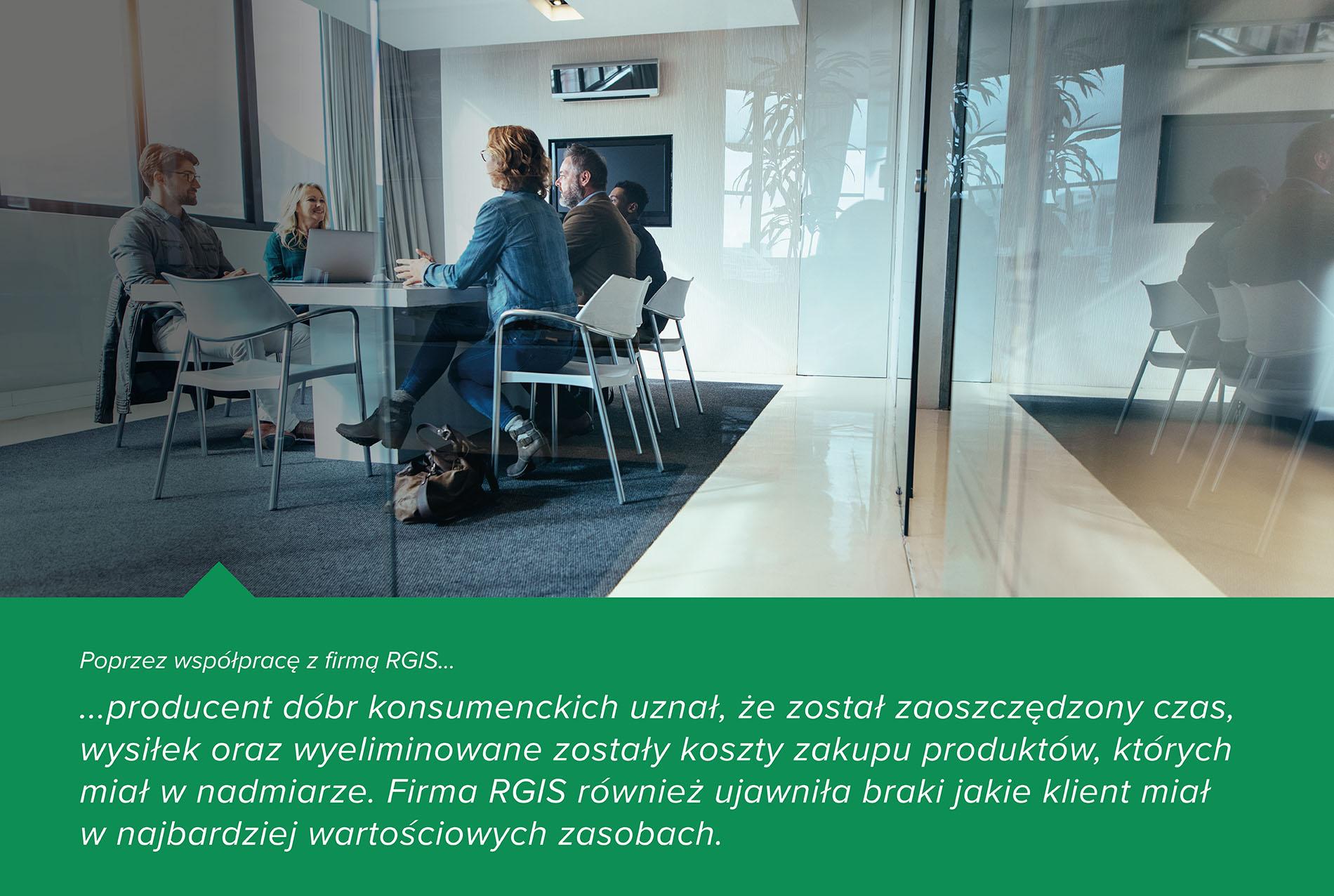 Studium przypadku RGIS dotyczące stałej liczby aktywów w biurach i zakładzie produkcyjnym