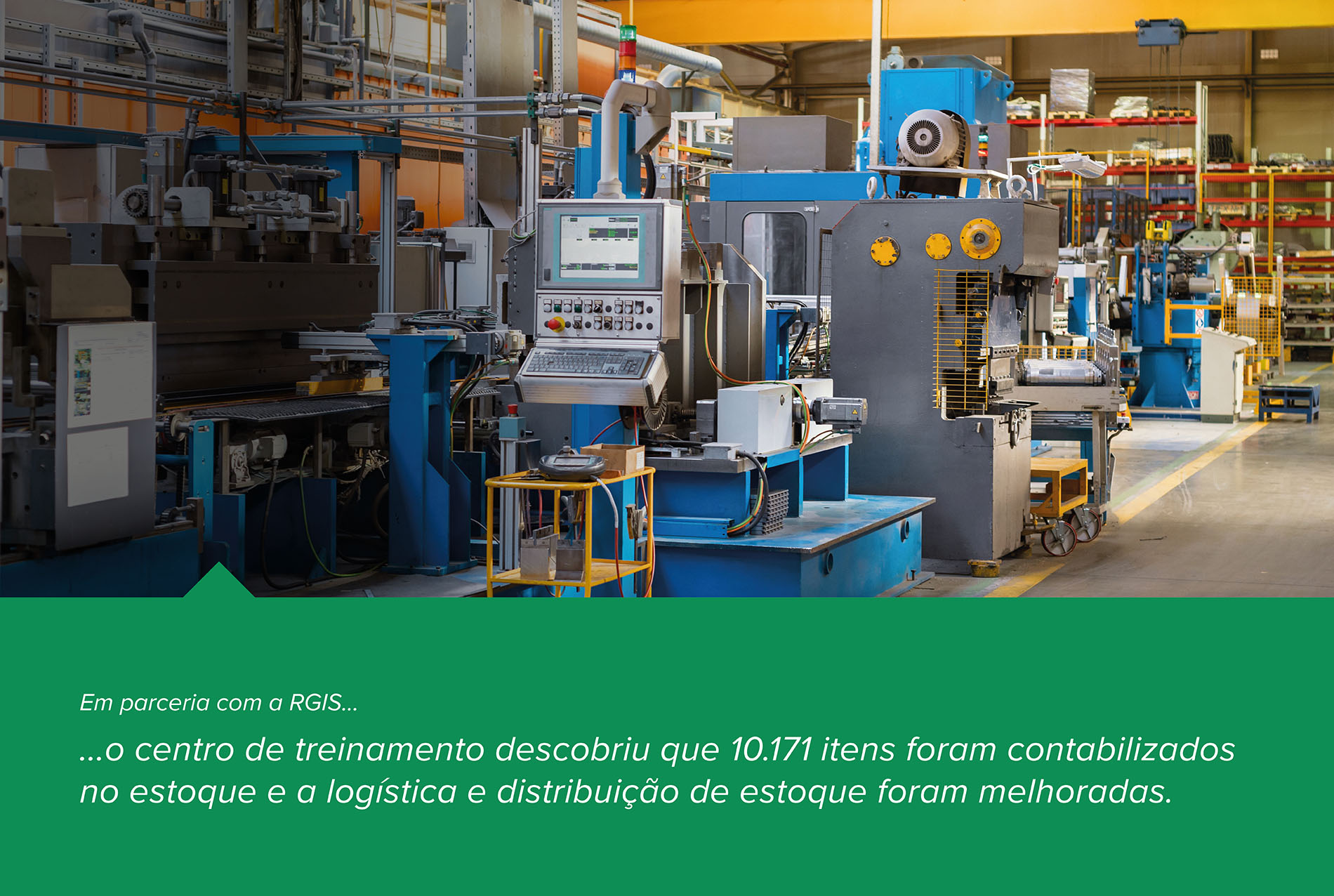 Centro de treinamento para estudos de caso de fabricação