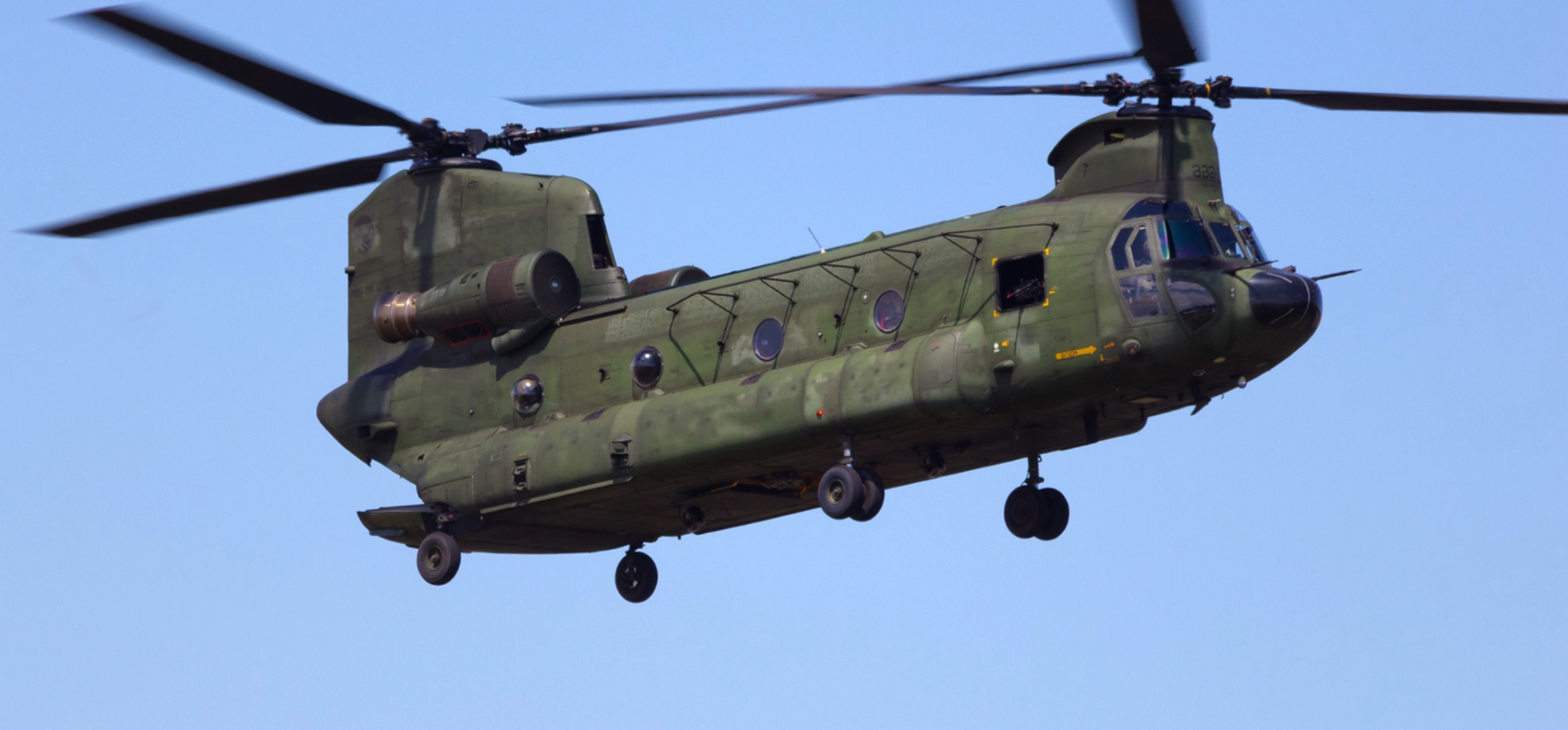 Chinook helicopter which needed to have parts in stock validated