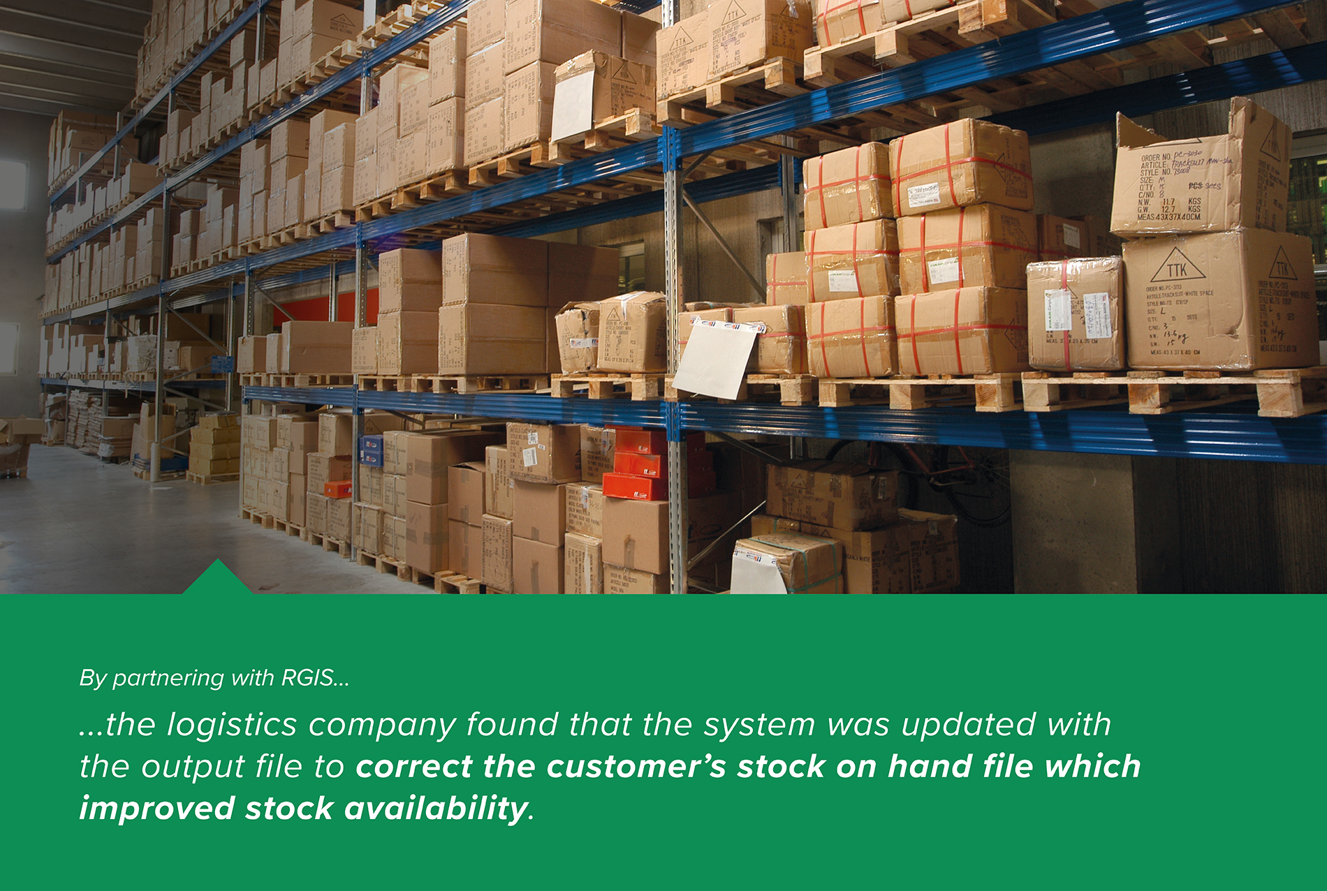 3PL Customer Stock Count to Update Stock on Hand File