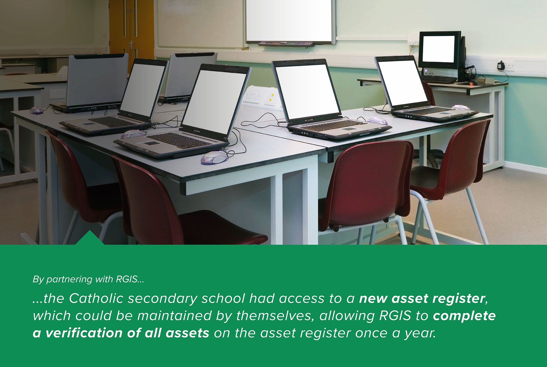 Asset Count and Tag Electronic Equipment Within a School