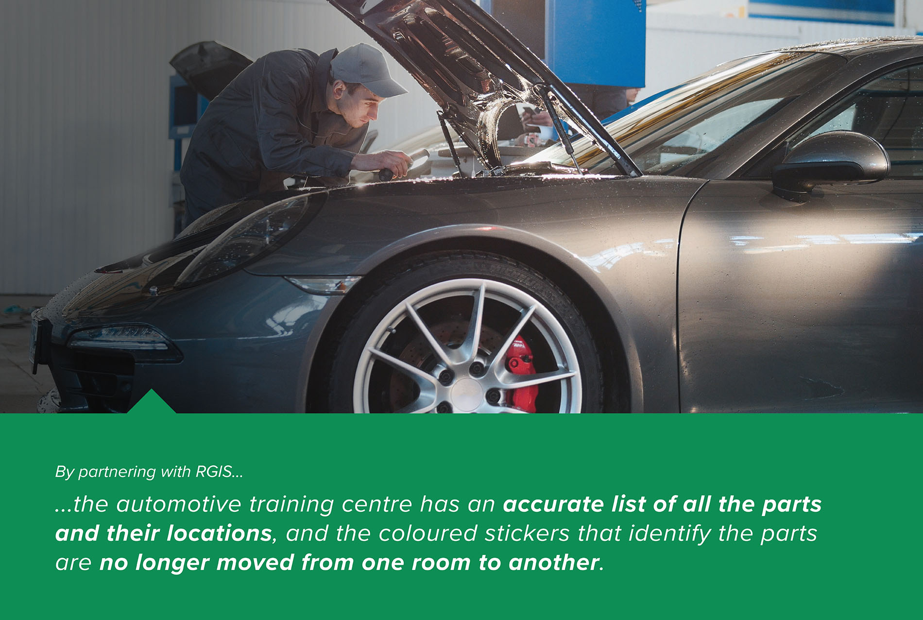 Automotive Training Centre Fixed Asset Location Tag and Count
