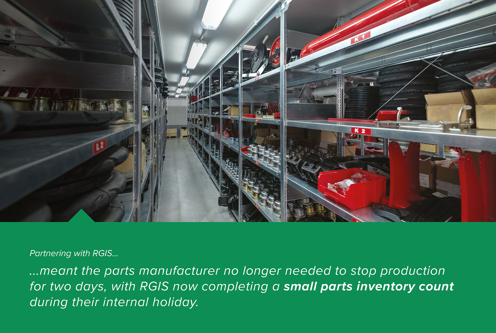 RGIS Case Study Industrial Stocktake – Parts Manufacturer