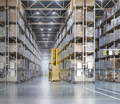 Warehouse that has had a supply chain audit