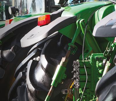 Agricultural vehicles counted in a stock verification