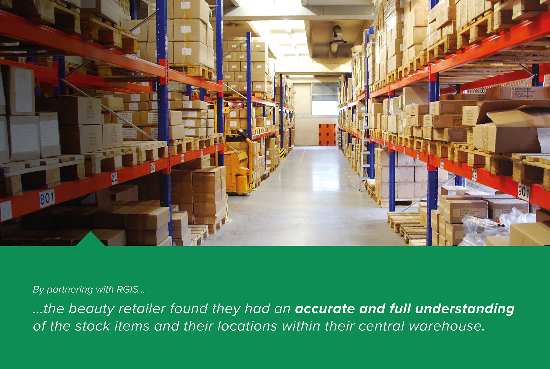 RGIS case study of Wall-To-Wall Inventory Count At Central Warehouse
