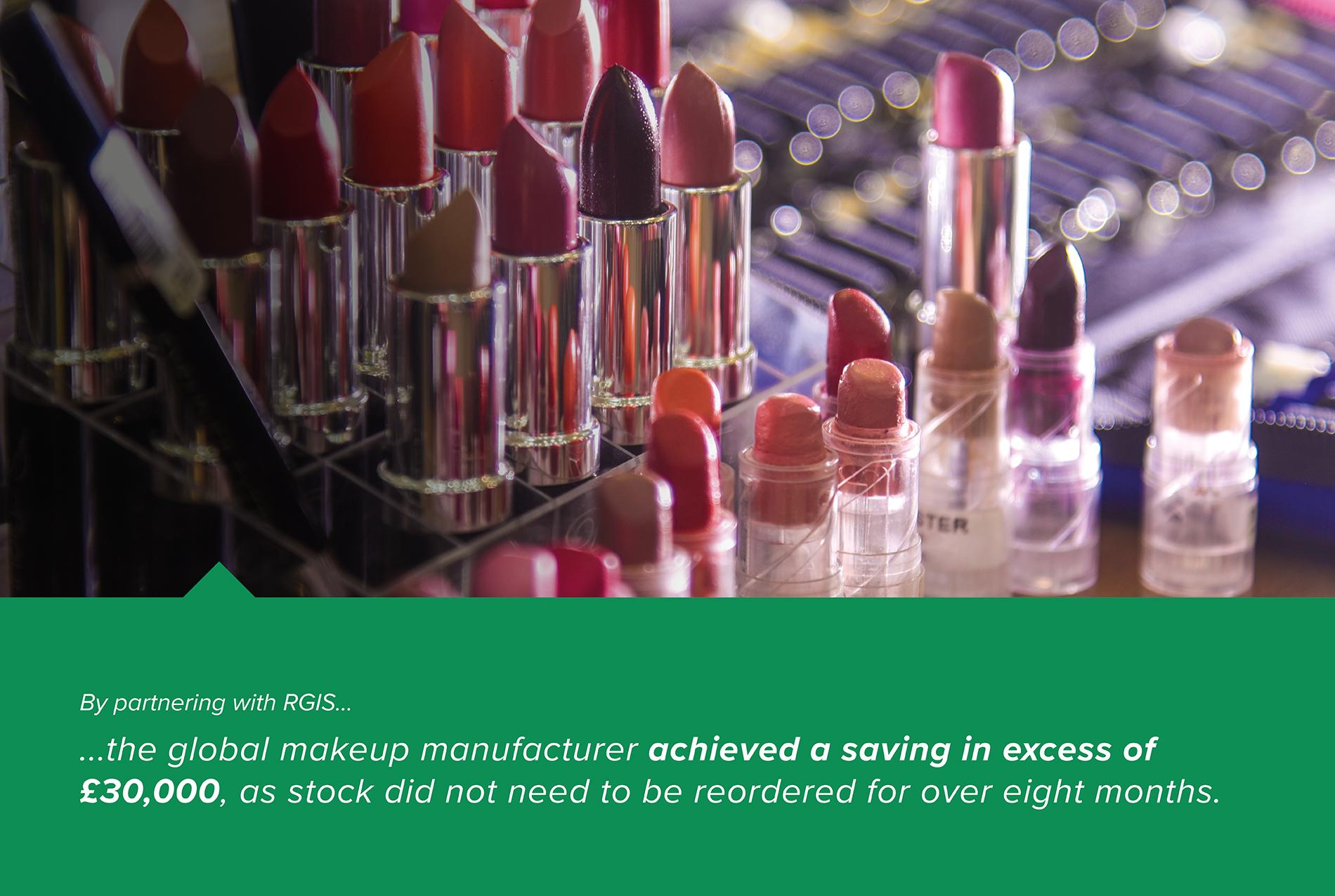 RGIS Case Study Makeup Manufacturer Warehouse Count