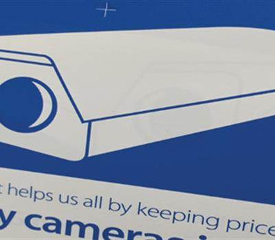 CCTV sign part of a loss prevention audit