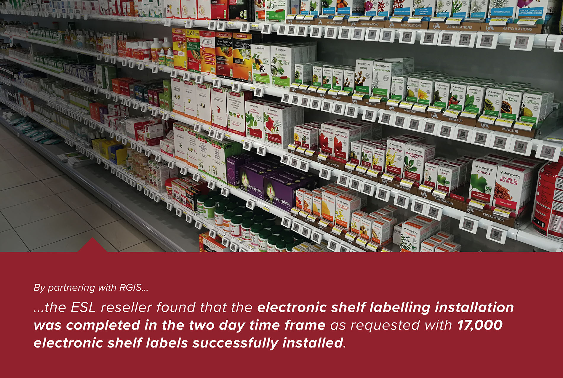 Installation of Electronic Shelf Labelling