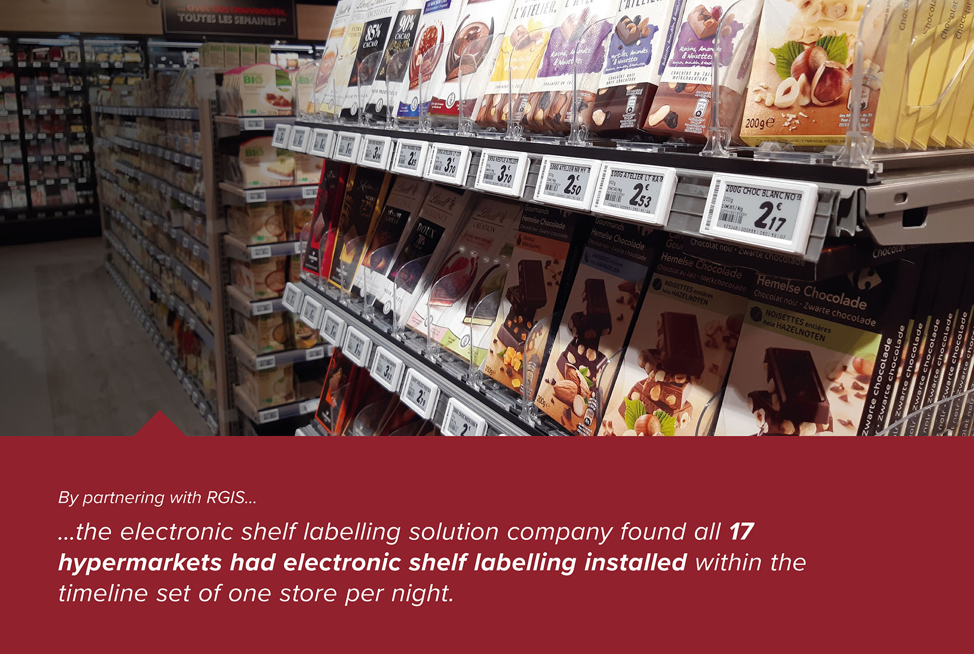 RGIS Case Study Electronic Shelf Labelling Installation