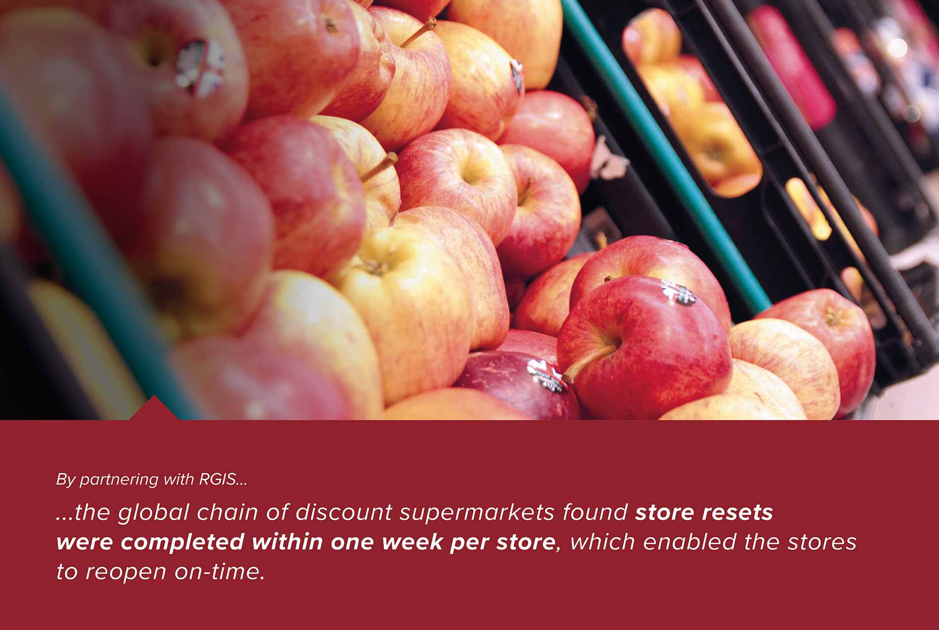 Merchandising support for fresh food - apples