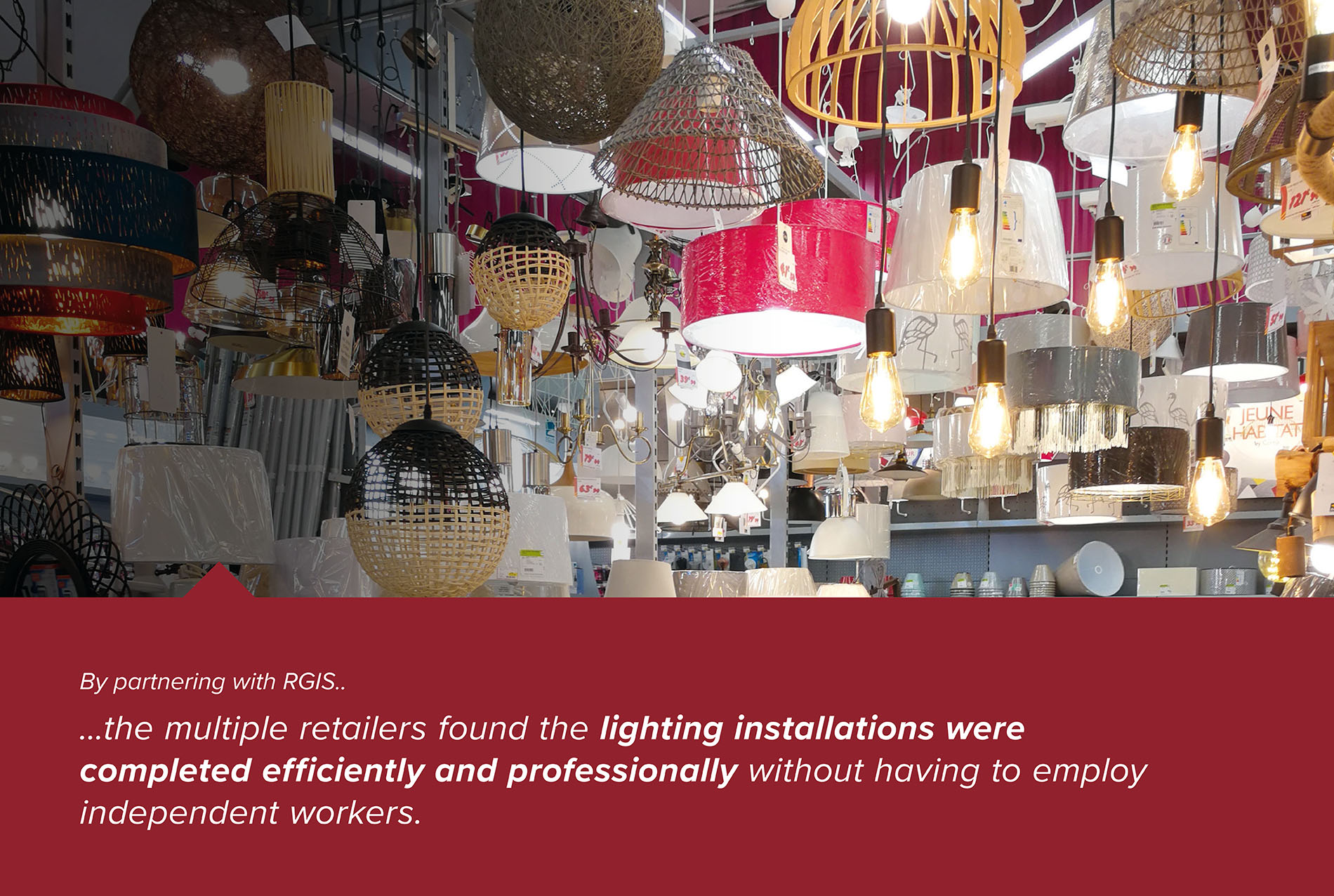 Merchandising Lighting Installations Within Multiple Retailers