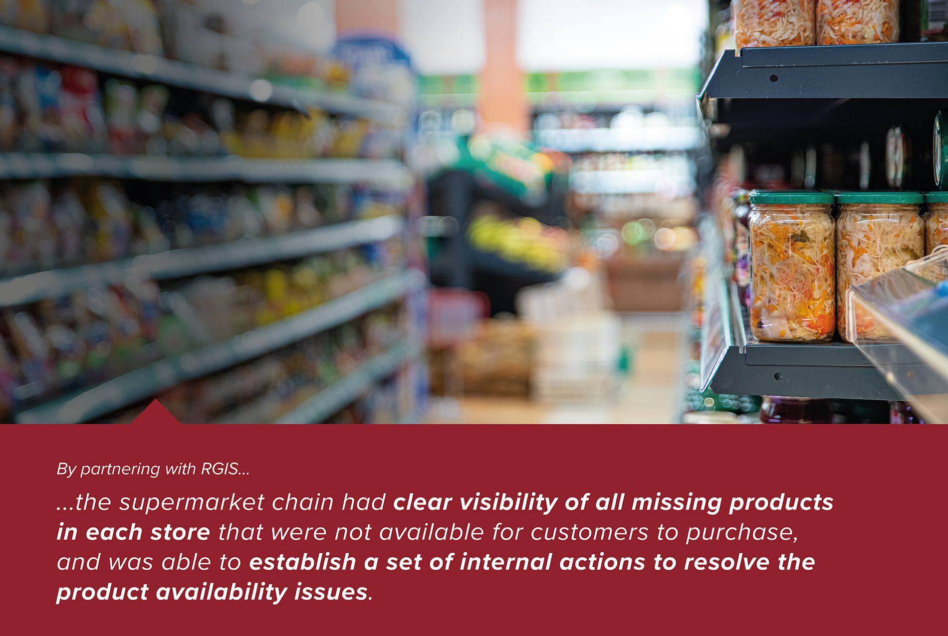 On-Shelf Availability of Selected Products within Supermarkets
