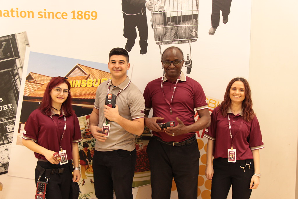RGIS auditors in a Sainsburys store after conducting a stocktake