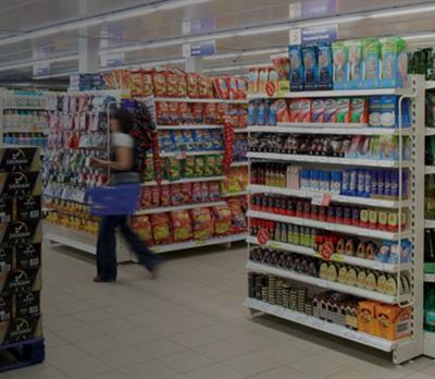 Tesco store with in-store merchandising