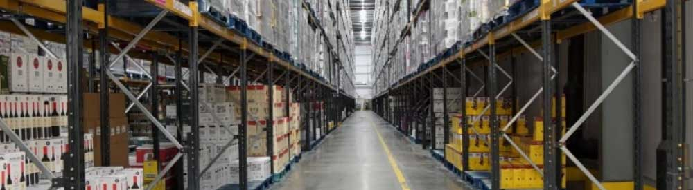 Inside Tesco warehouse having a supply chain audit