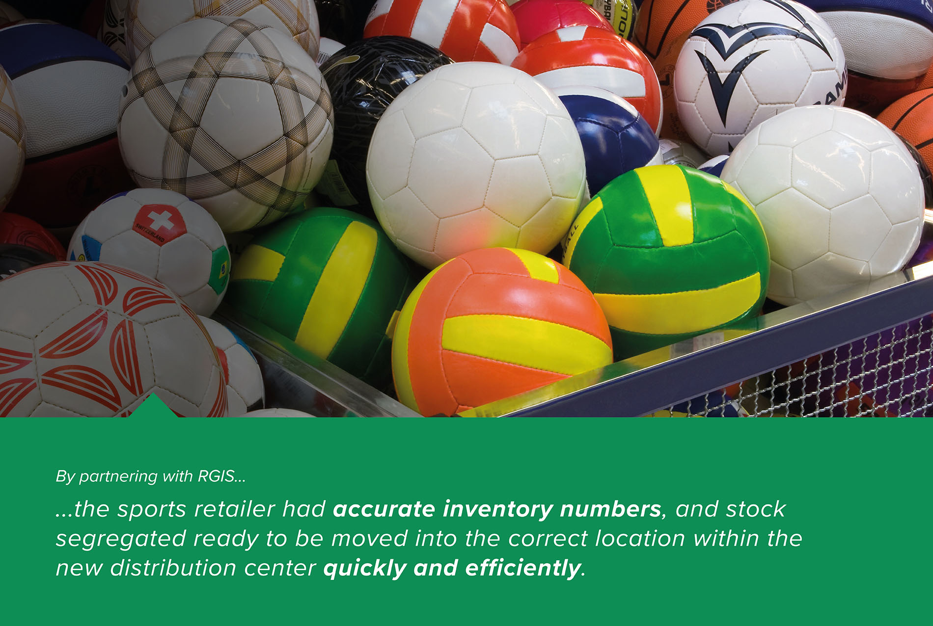 Full Inventory of Sporting Goods Prior to Moving to New Distribution Center