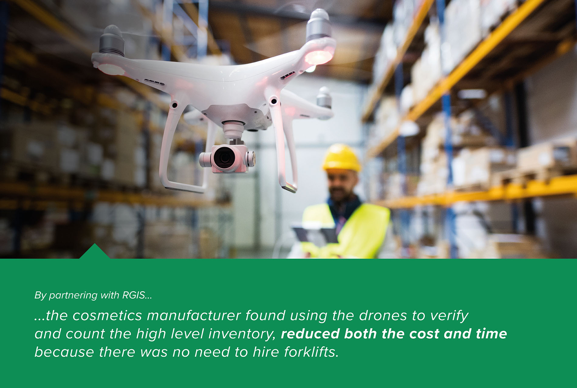Drone Warehouse Verification Count with QR Codes