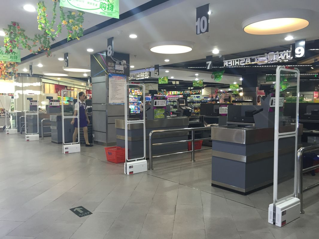 Electronic Article Surveilance EAS gates in a retail store
