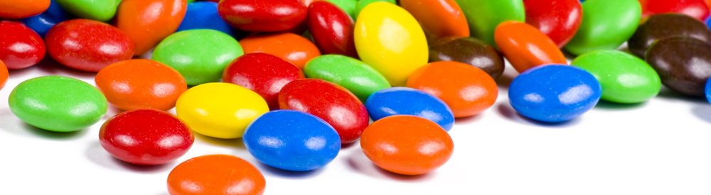 colorful m&ms candies