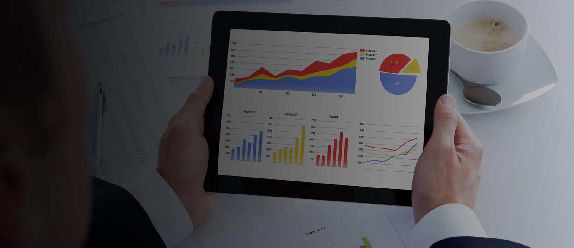 A retail dashboard showing  retail analytics