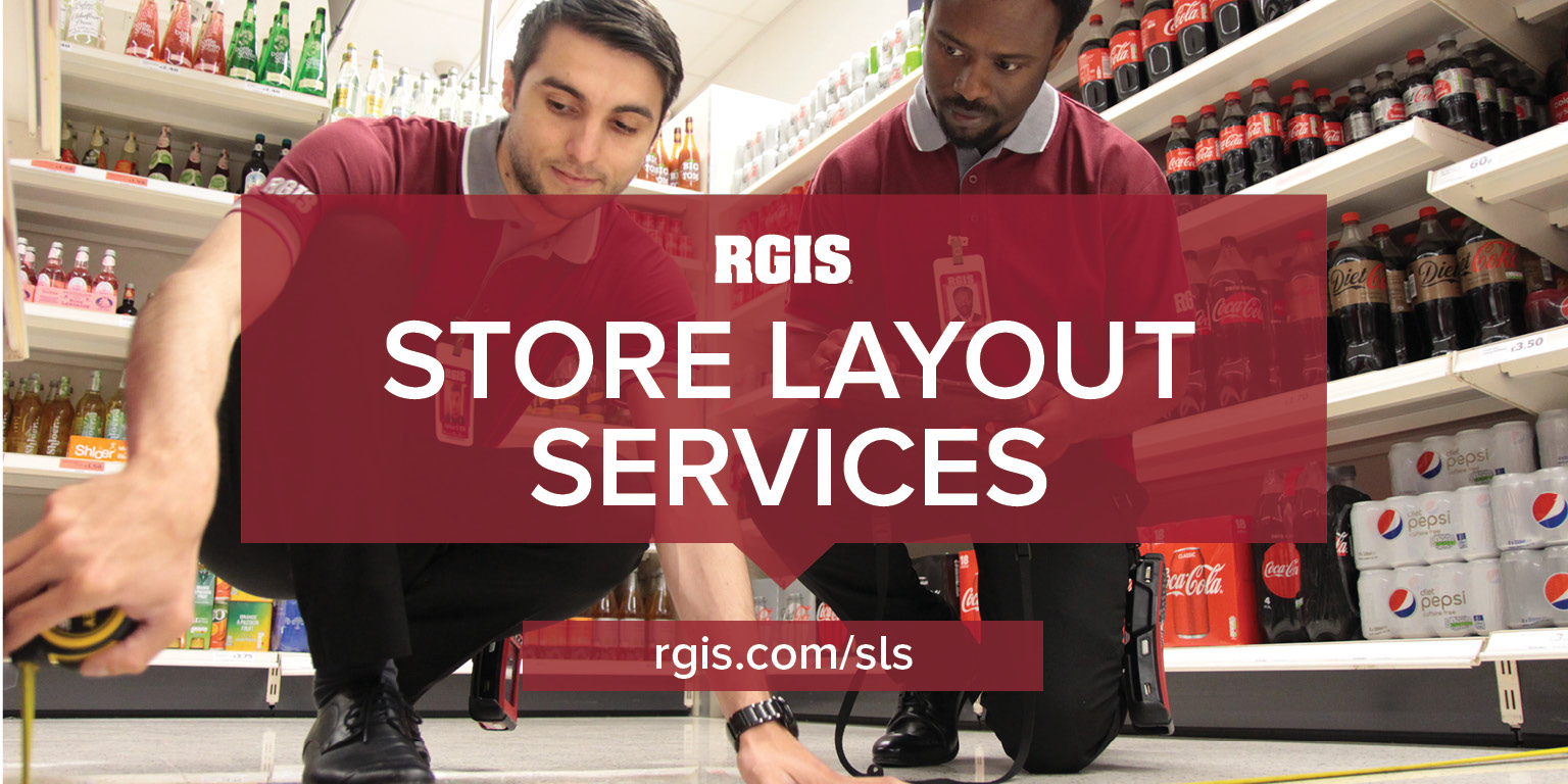 RGIS store layout services measuring distance between shelving