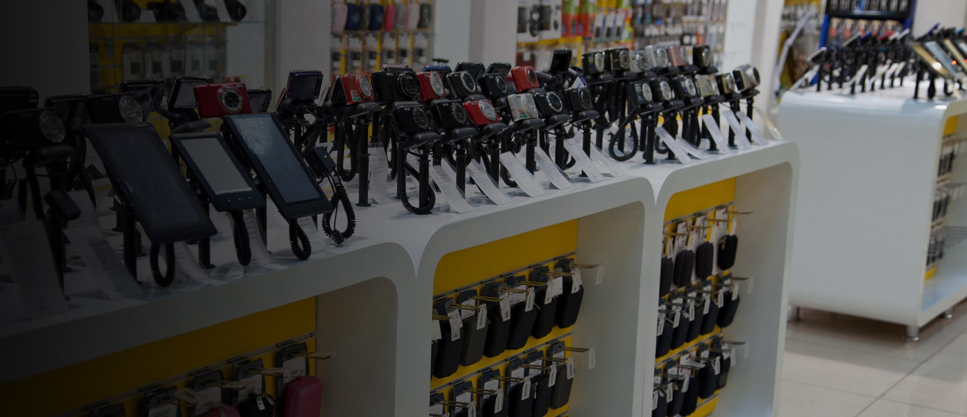 store displaying electronic products