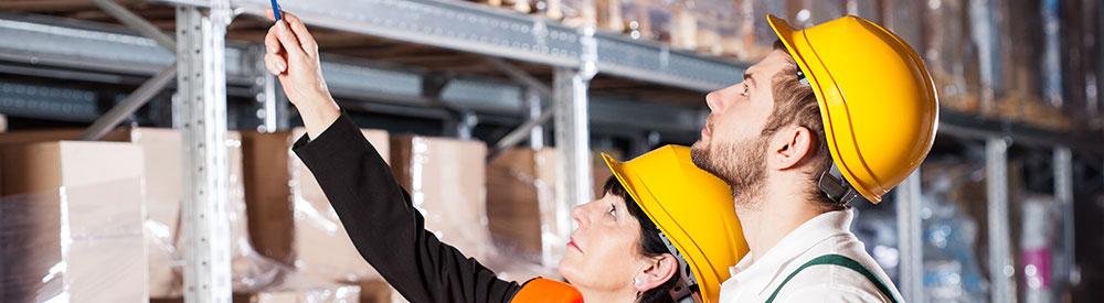 Préparation d'entrepôt pour le comptage du stock