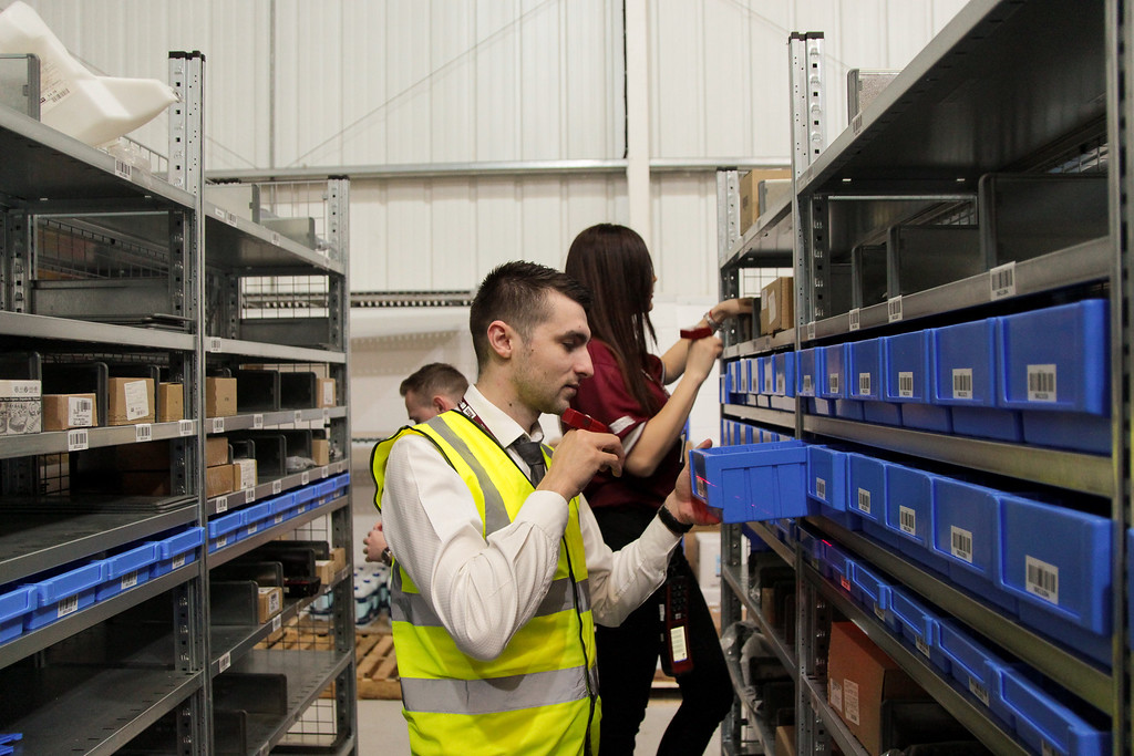 RGIS auditors completing pick accuracy checks in a warehouse